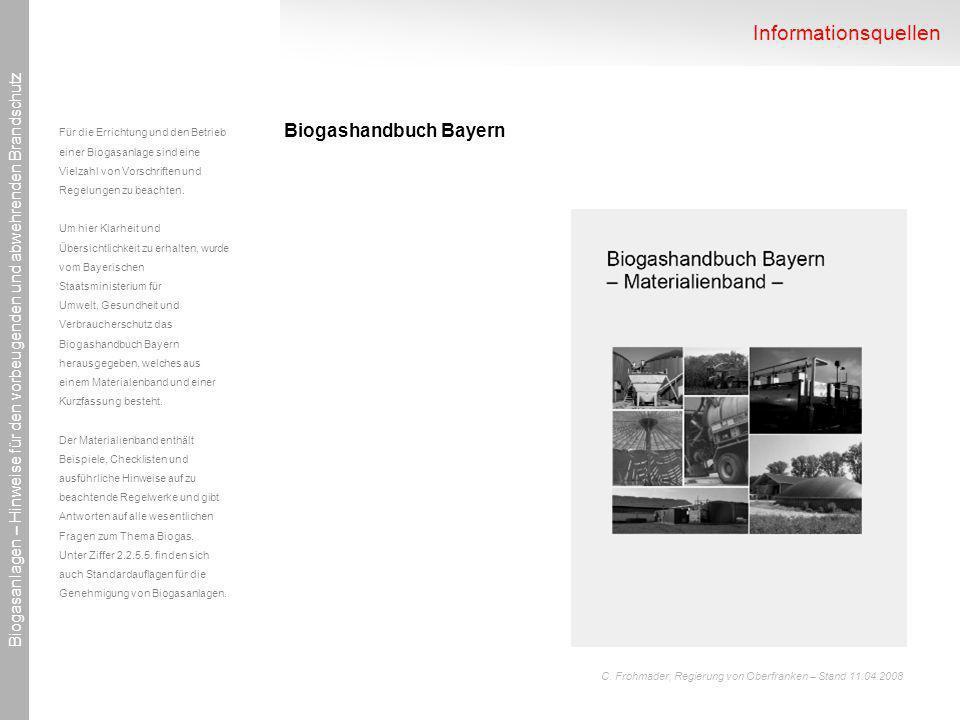 Informationsquellen Biogashandbuch Bayern