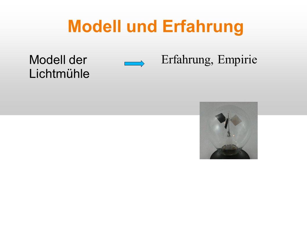 Modell und Erfahrung Modell der Lichtmühle Erfahrung, Empirie