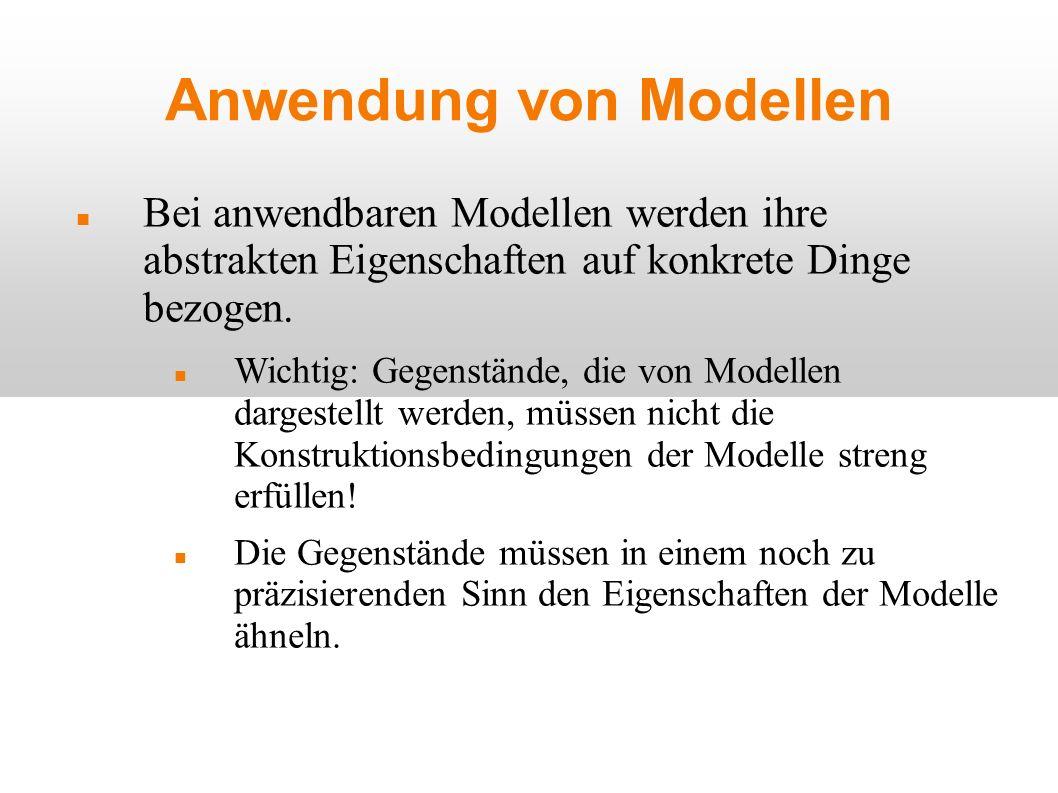 Anwendung von Modellen