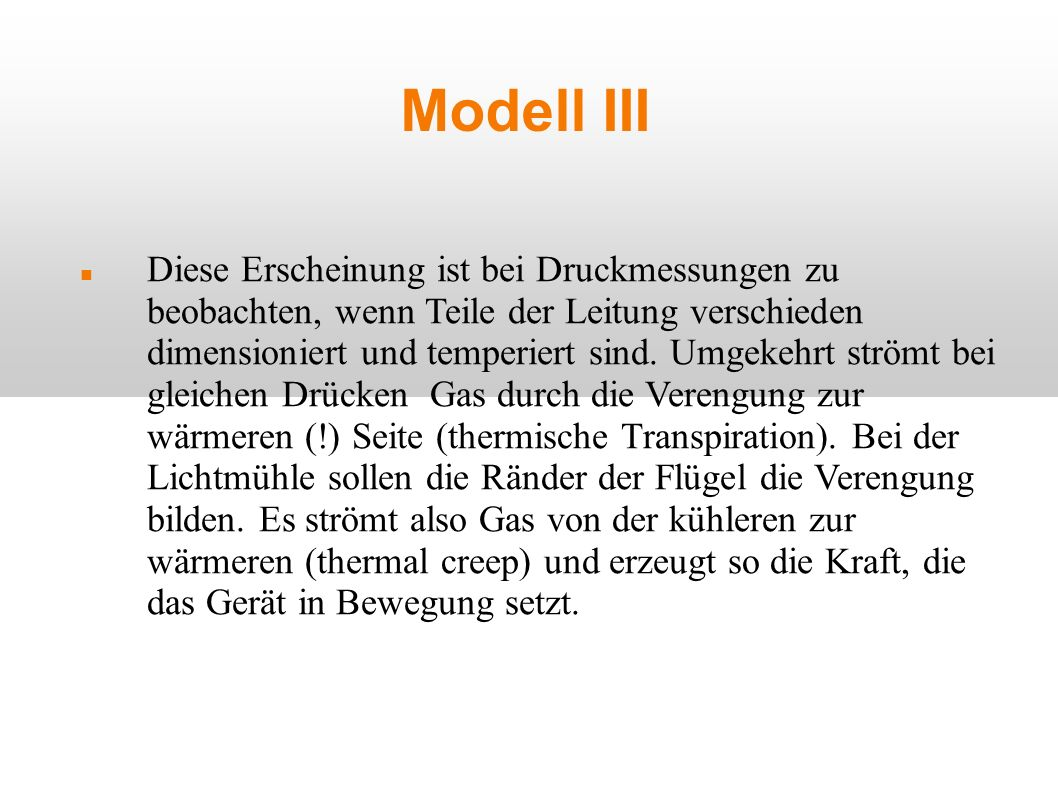 Modell III
