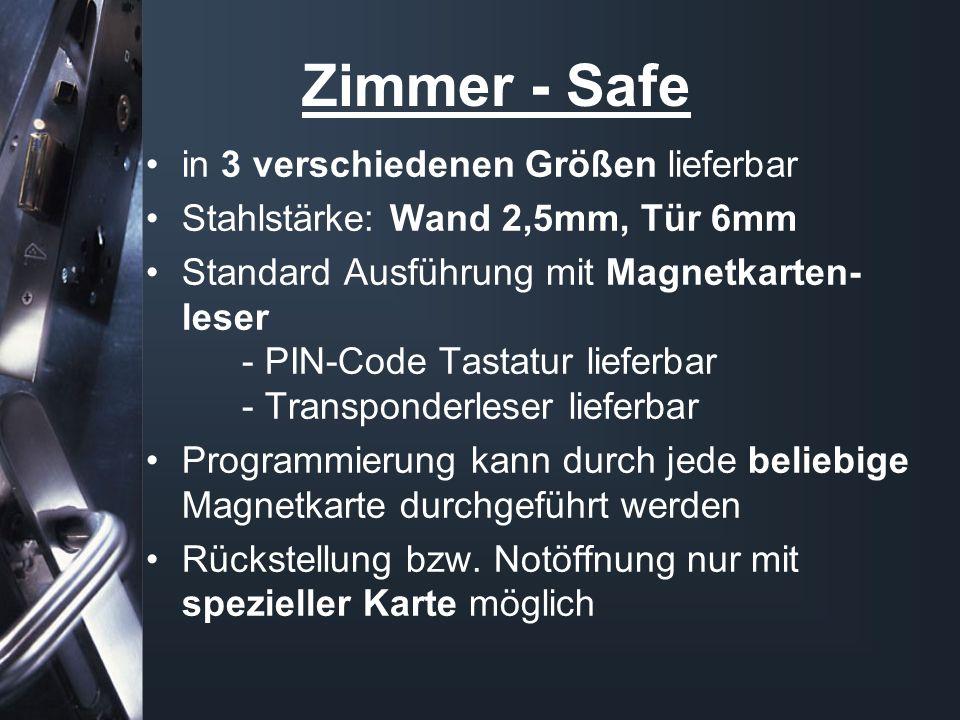 Zimmer - Safe in 3 verschiedenen Größen lieferbar
