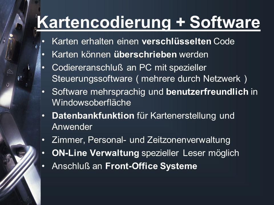 Kartencodierung + Software