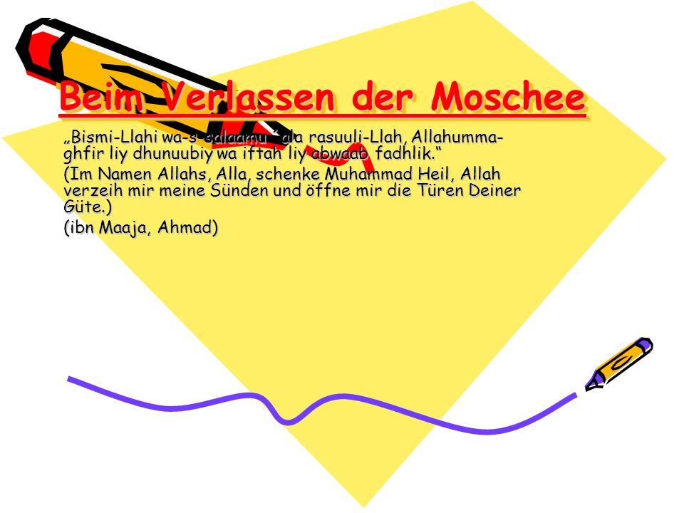 Beim Verlassen der Moschee