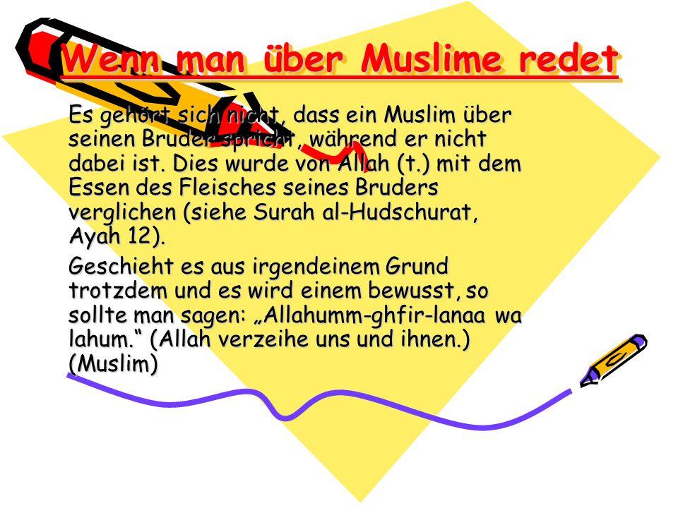 Wenn man über Muslime redet