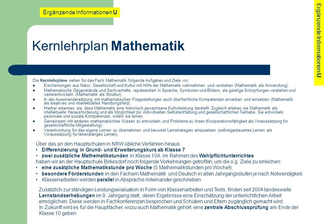 Kernlehrplan Mathematik