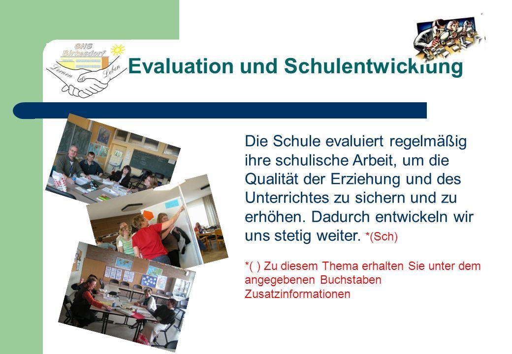 Evaluation und Schulentwicklung