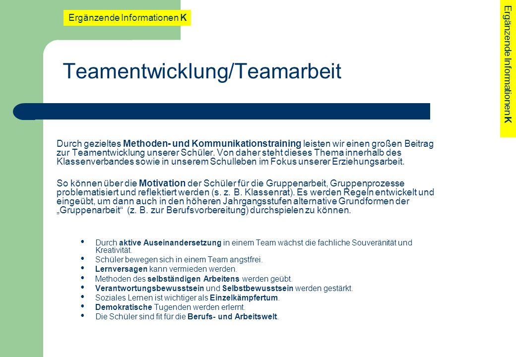 Teamentwicklung/Teamarbeit