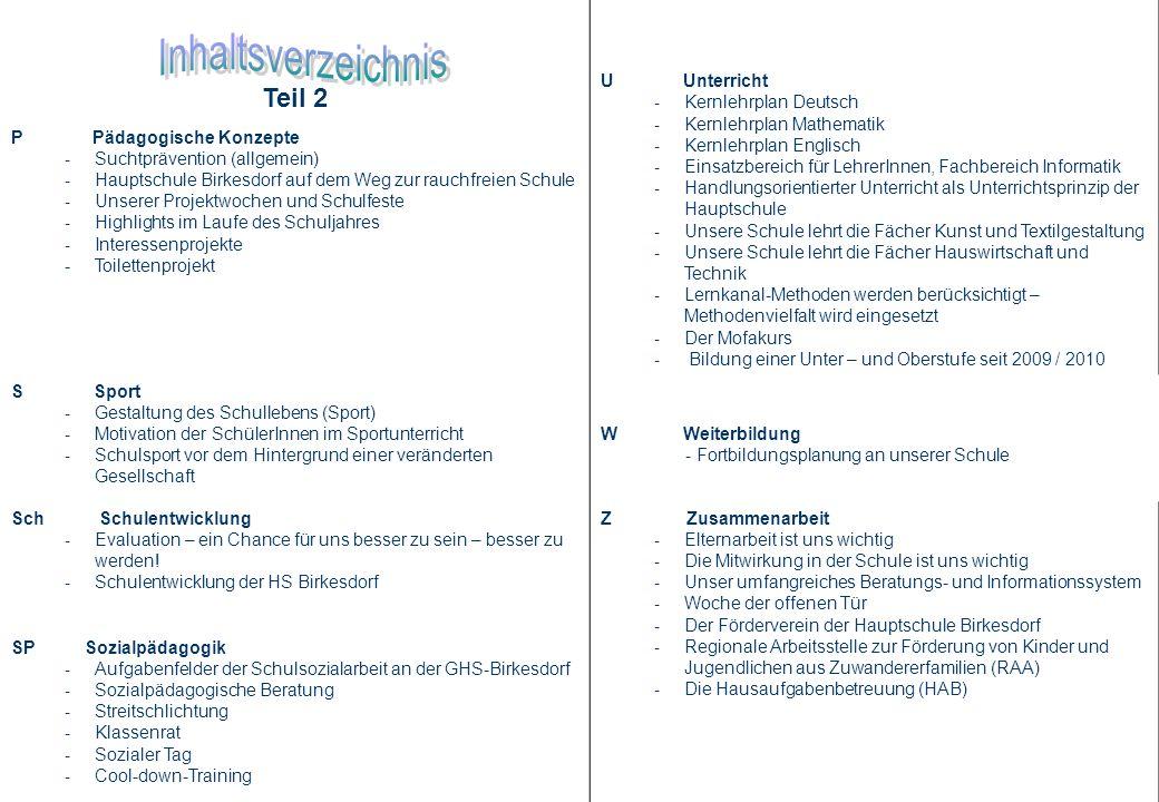 Inhaltsverzeichnis Teil 2 U Unterricht Kernlehrplan Deutsch