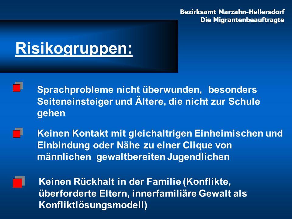 Bezirksamt Marzahn-Hellersdorf Die Migrantenbeauftragte