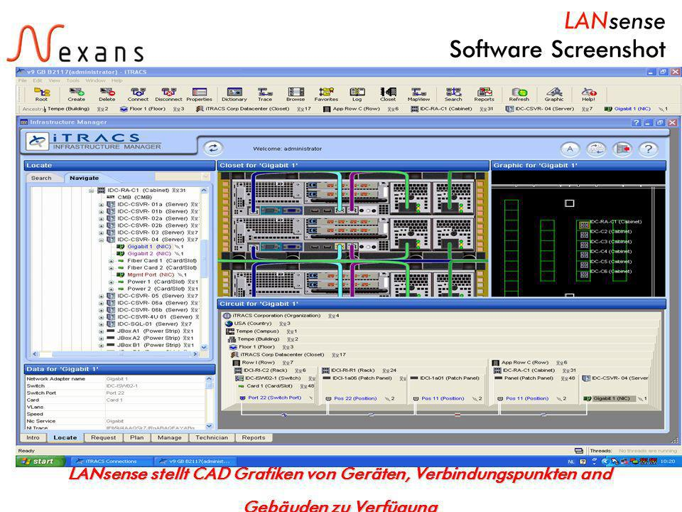 LANsense Software Screenshot
