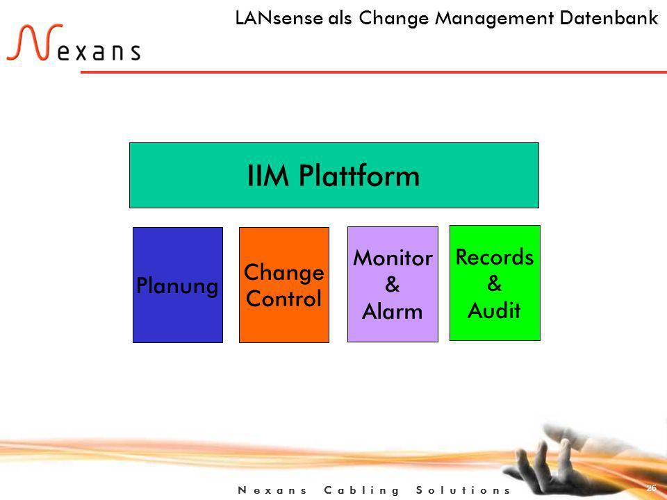 LANsense als Change Management Datenbank