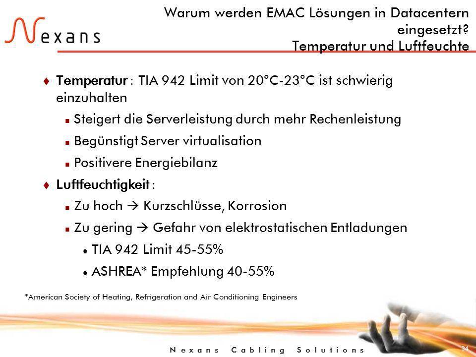 Warum werden EMAC Lösungen in Datacentern eingesetzt