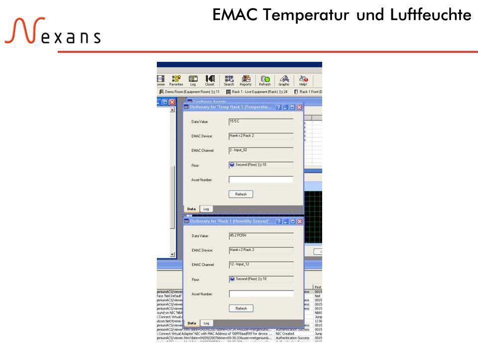 EMAC Temperatur und Luftfeuchte