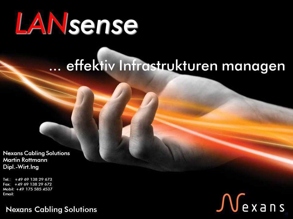 LANsense ... effektiv Infrastrukturen managen Nexans Cabling Solutions