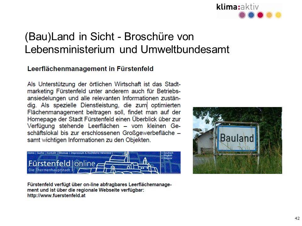 (Bau)Land in Sicht - Broschüre von Lebensministerium und Umweltbundesamt