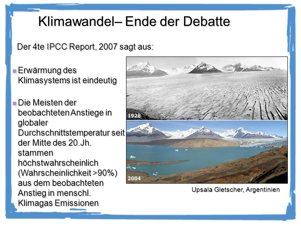 Klimawandel– Ende der Debatte