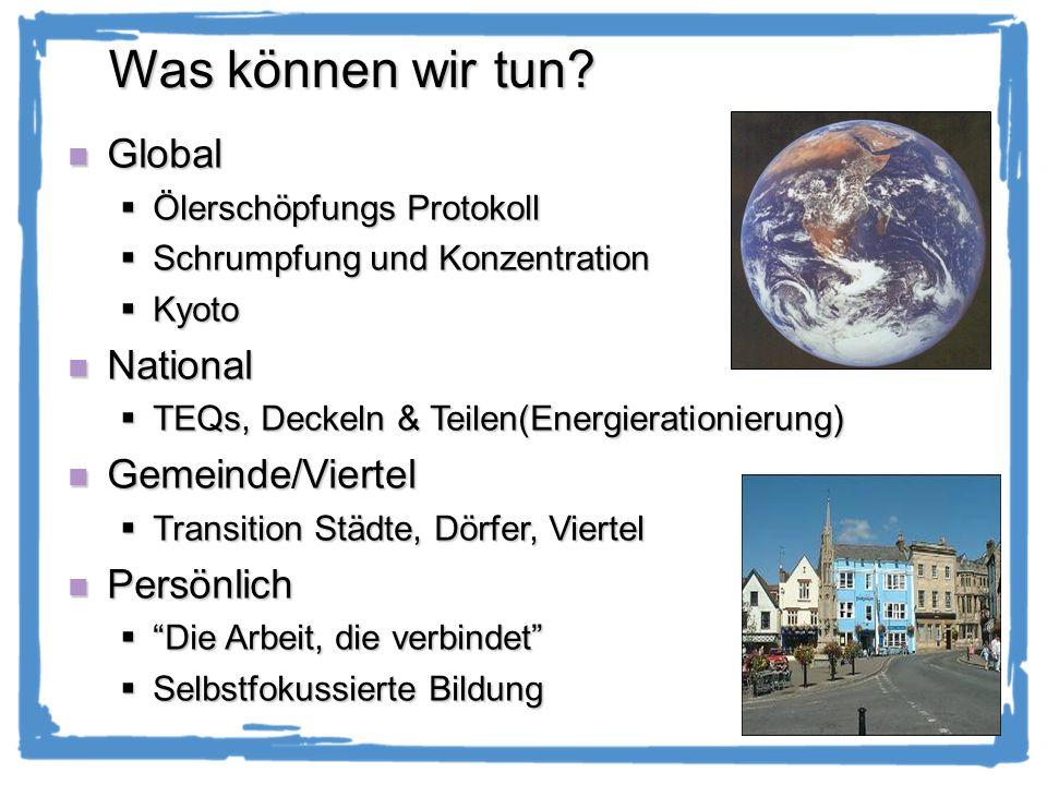 Was können wir tun Global National Gemeinde/Viertel Persönlich