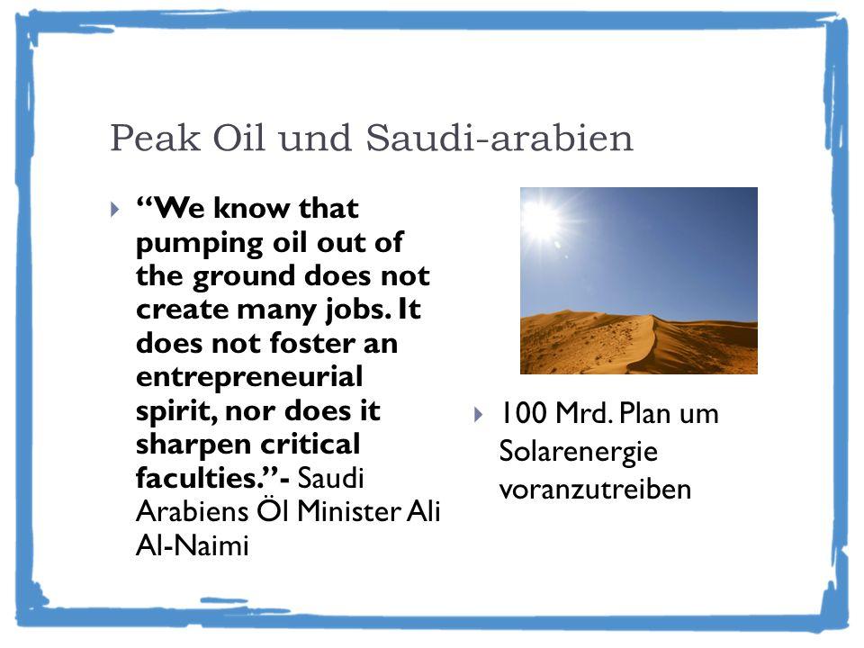 Peak Oil und Saudi-arabien