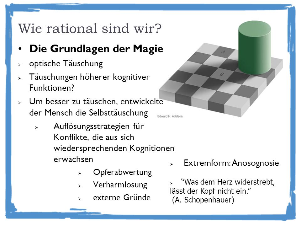 Wie rational sind wir Die Grundlagen der Magie optische Täuschung