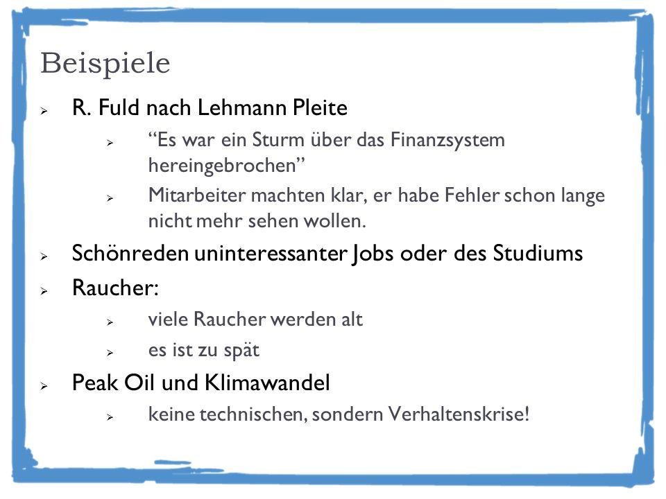 Beispiele R. Fuld nach Lehmann Pleite