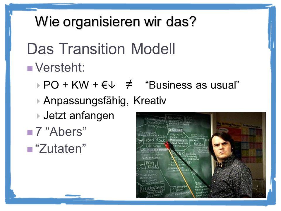 Das Transition Modell Wie organisieren wir das Versteht: 7 Abers