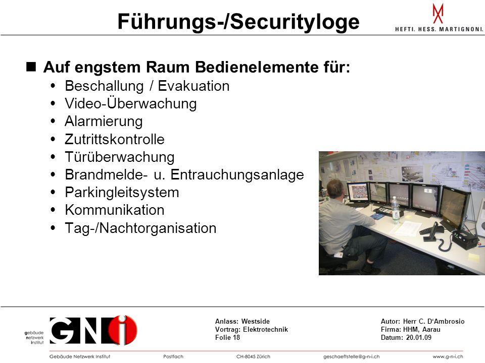 Führungs-/Securityloge