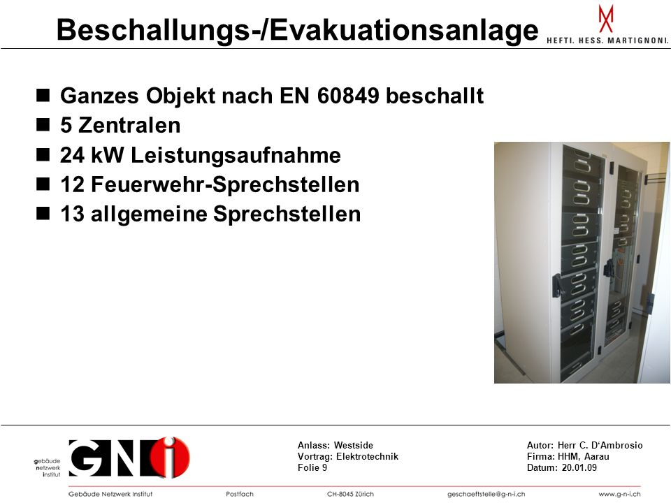 Beschallungs-/Evakuationsanlage