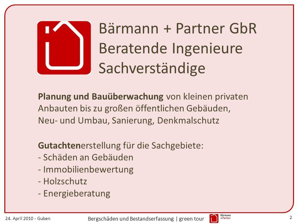 Bärmann + Partner GbR Beratende Ingenieure Sachverständige