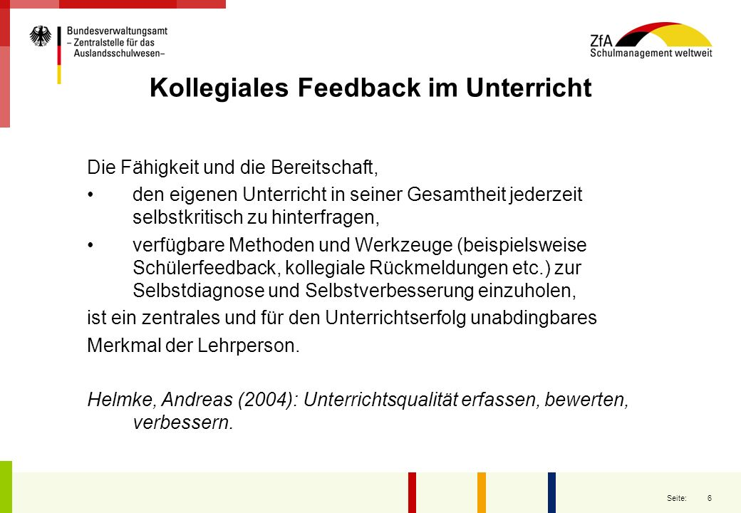 Kollegiales Feedback im Unterricht