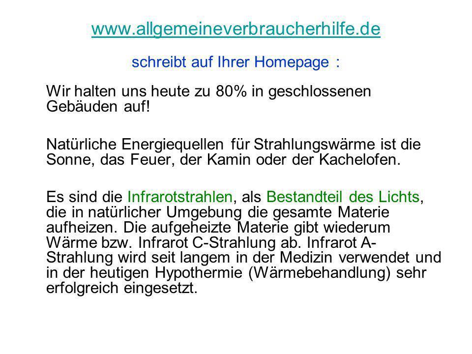 www.allgemeineverbraucherhilfe.de schreibt auf Ihrer Homepage :