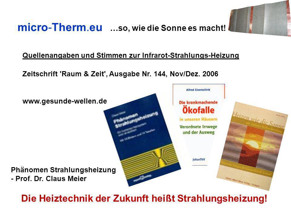micro-Therm.eu …so, wie die Sonne es macht!