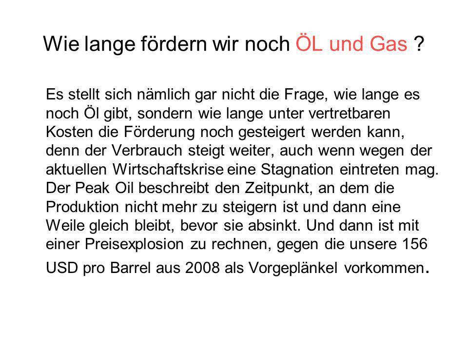 Wie lange fördern wir noch ÖL und Gas