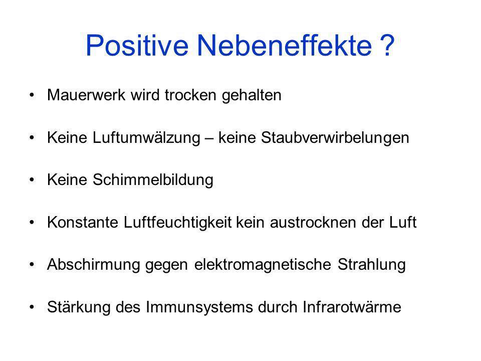 Positive Nebeneffekte