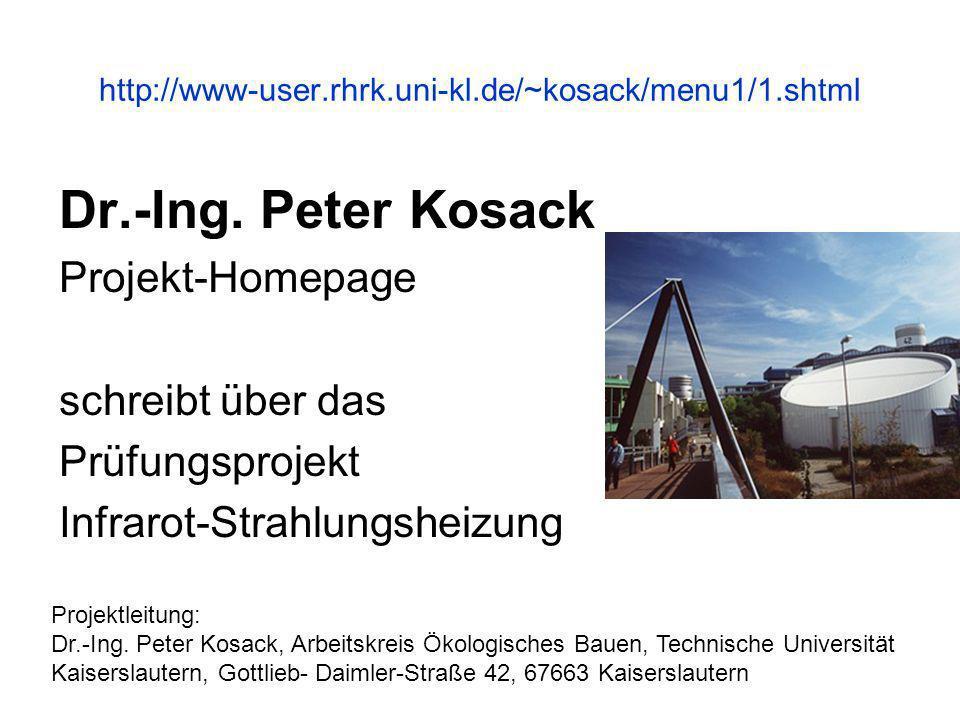 Dr.-Ing. Peter Kosack Projekt-Homepage schreibt über das