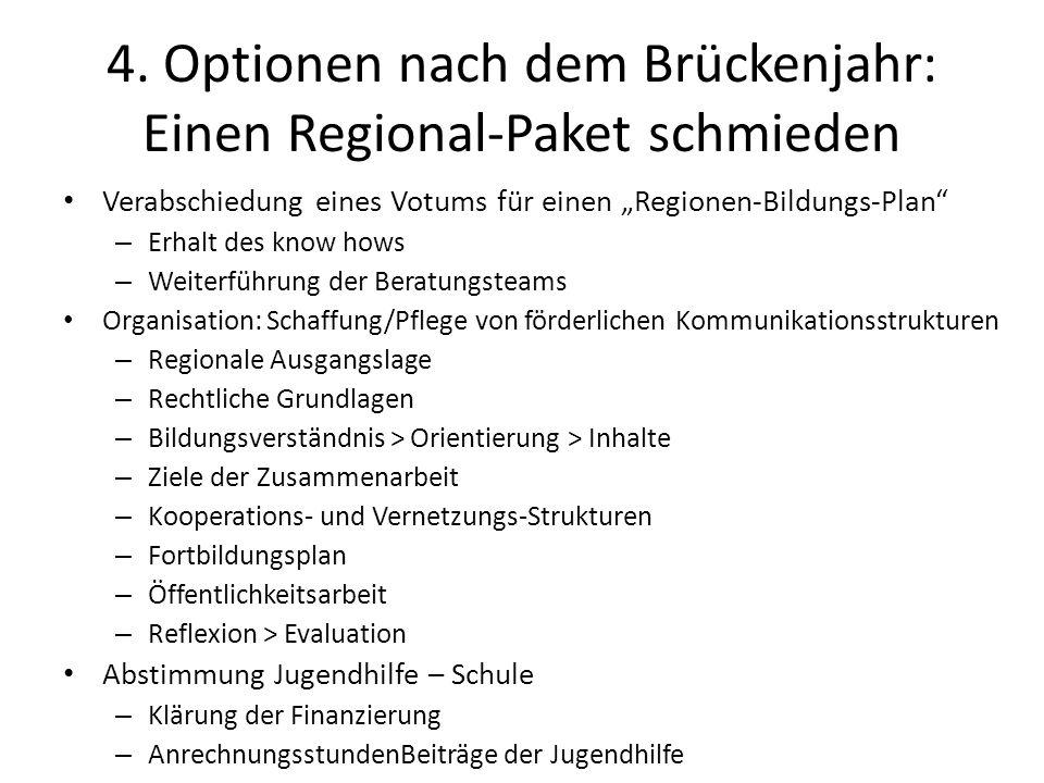 4. Optionen nach dem Brückenjahr: Einen Regional-Paket schmieden