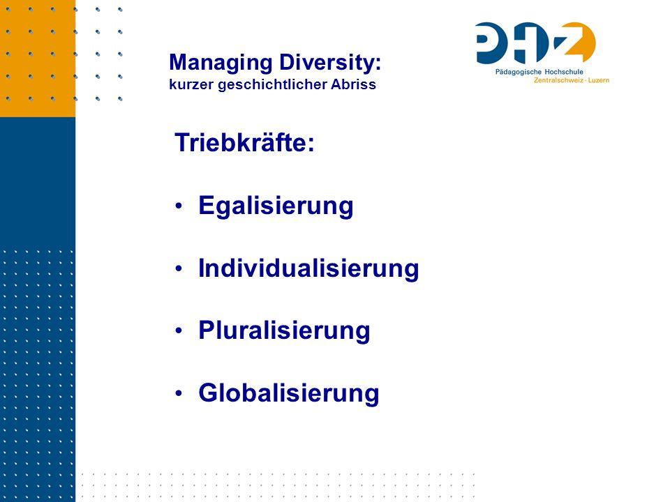 Triebkräfte: Egalisierung Individualisierung Pluralisierung