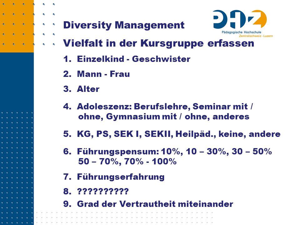 Vielfalt in der Kursgruppe erfassen