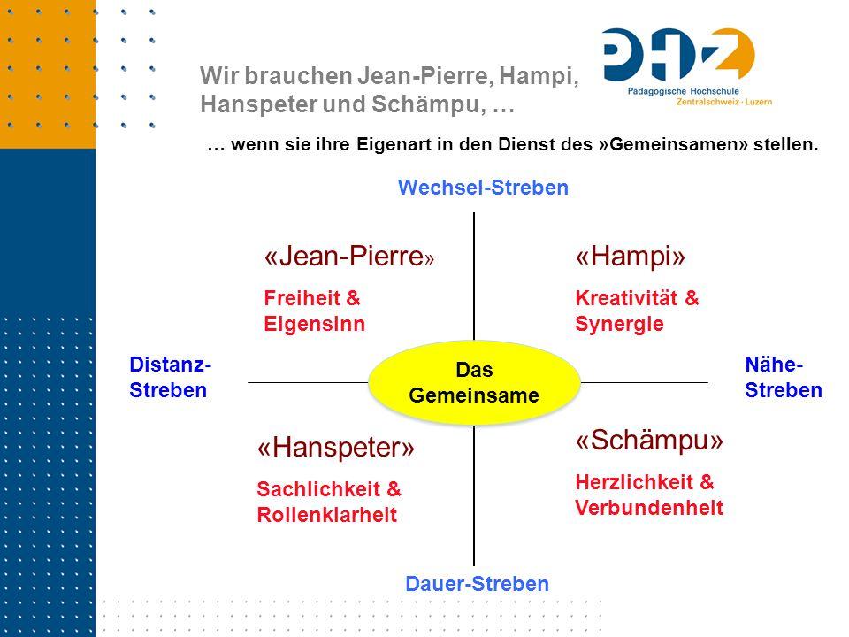 «Jean-Pierre» «Hampi» «Schämpu» «Hanspeter»