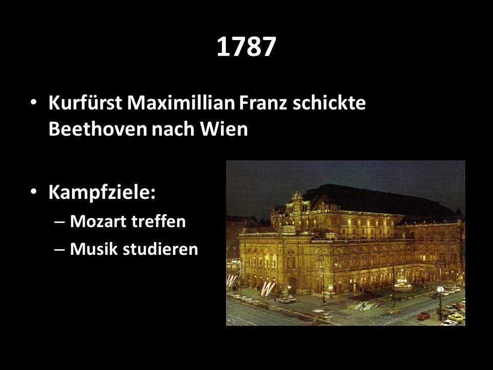 1787 Kurfürst Maximillian Franz schickte Beethoven nach Wien