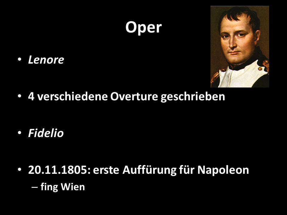 Oper Lenore 4 verschiedene Overture geschrieben Fidelio
