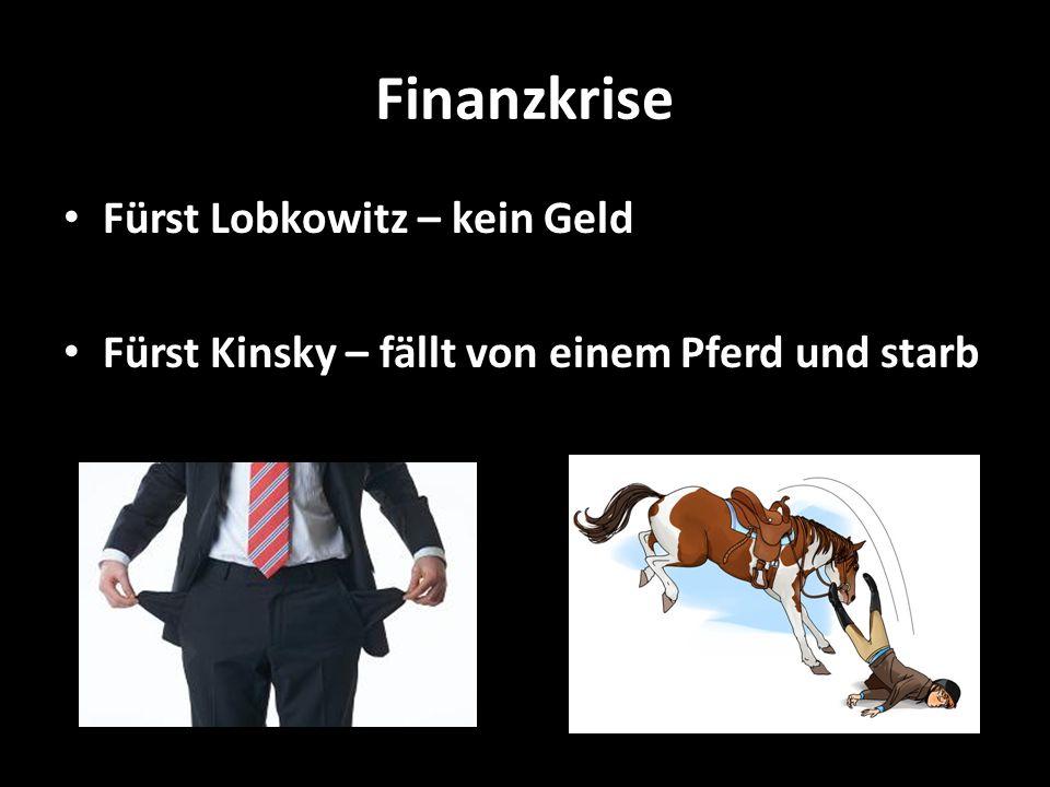 Finanzkrise Fürst Lobkowitz – kein Geld
