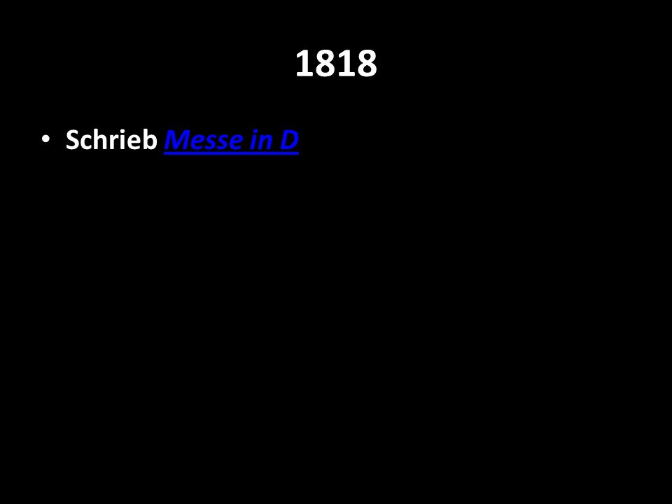1818 Schrieb Messe in D