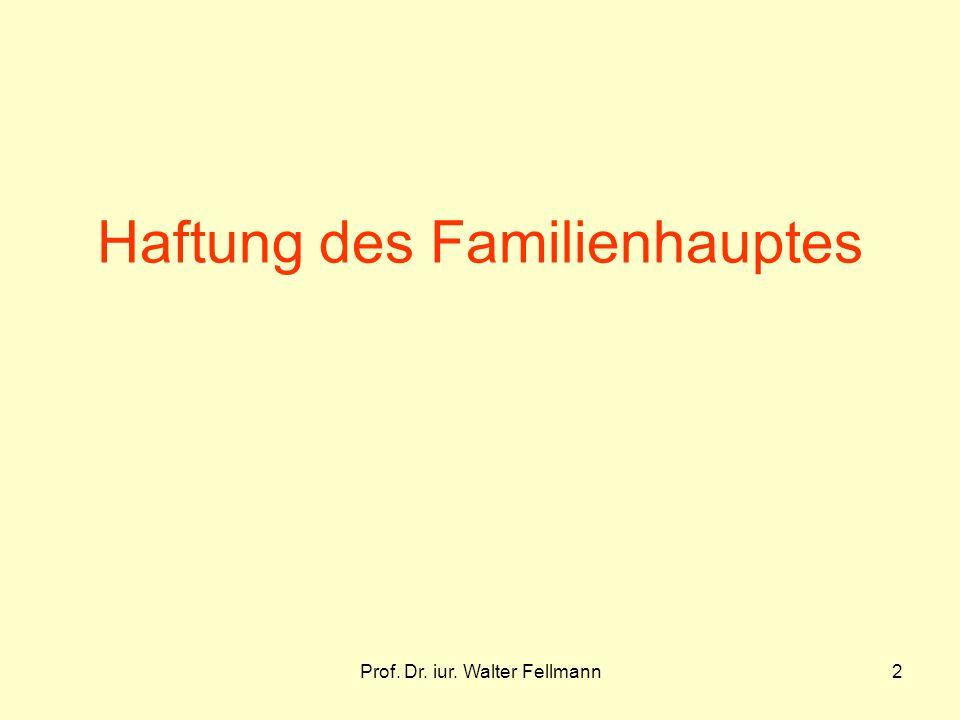 Haftung des Familienhauptes