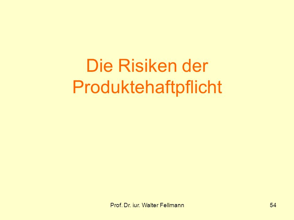 Die Risiken der Produktehaftpflicht