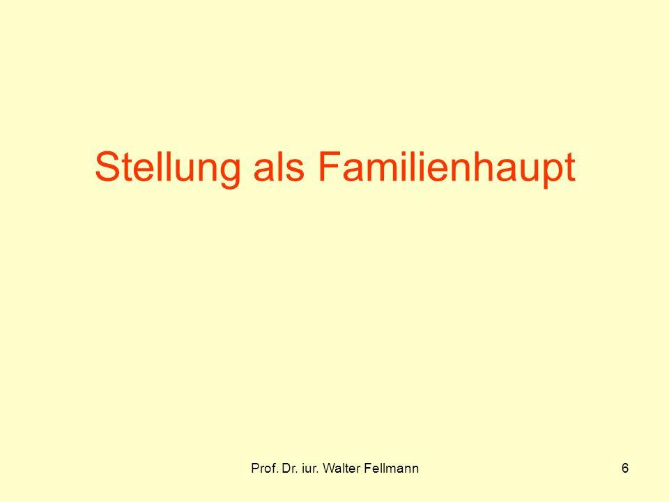Stellung als Familienhaupt