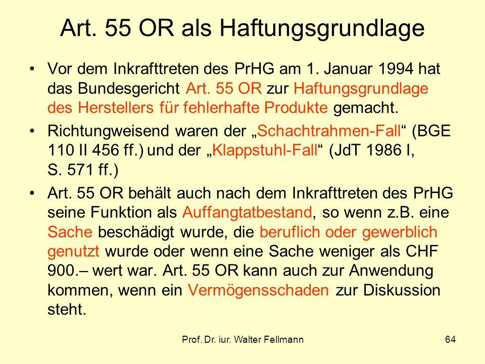 Art. 55 OR als Haftungsgrundlage
