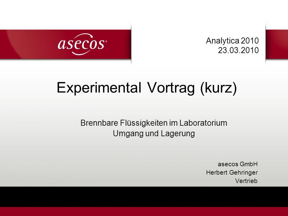 Experimental Vortrag (kurz)
