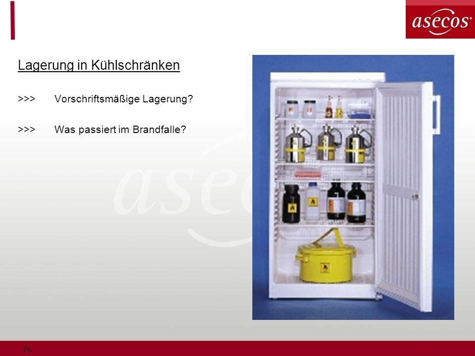 Lagerung in Kühlschränken