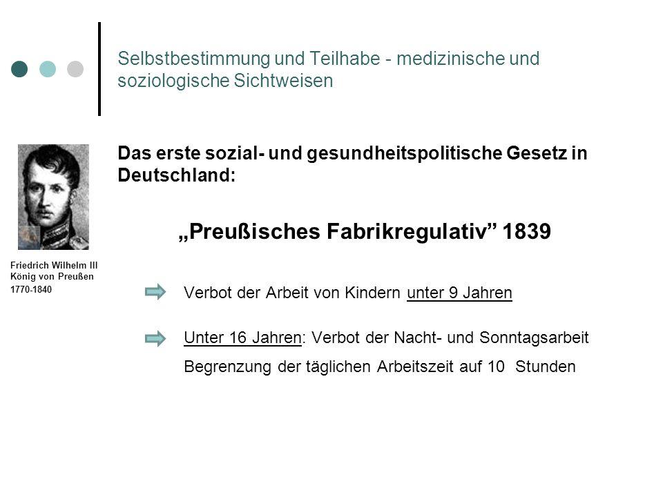 """Preußisches Fabrikregulativ 1839"