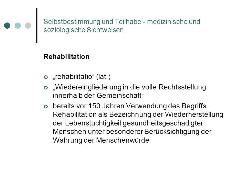 """""""rehabilitatio (lat.)"""